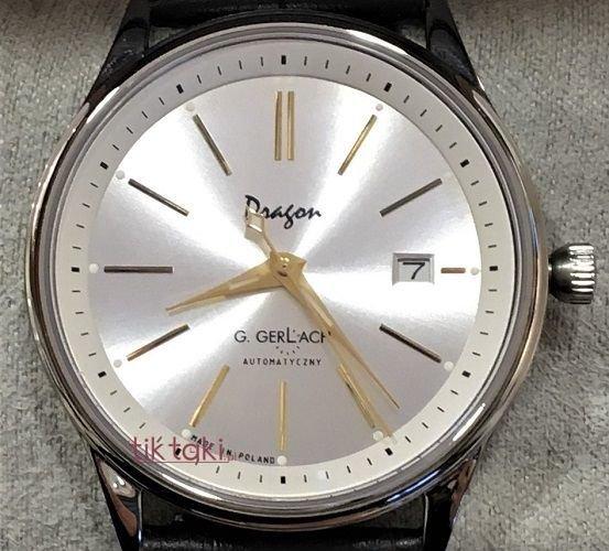 Zegarek Gerlach Dragon z białą tarczą Made in Poland